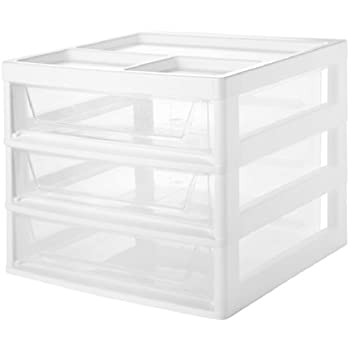 Amazon Iris 6 Case Scrapbook Cart White Set Of 2 Home Kitchen