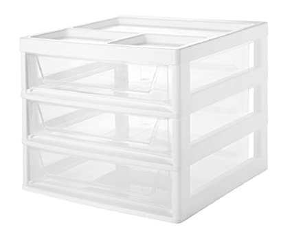 IRIS 6-Drawer Scrapbook Cart with Organizer Top, White IRIS USA Inc. 585451