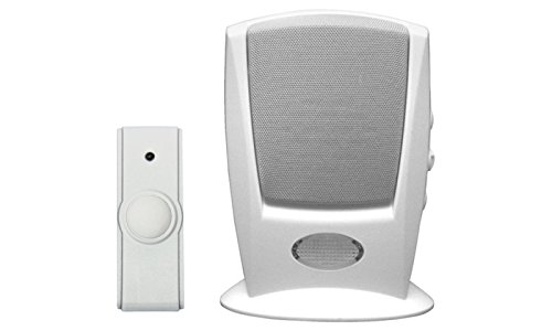 Wireless Battery Operated Portable Doorbell/Chime for Hearing Impaired or Sleeping Babies, with Strobe Light Indicator