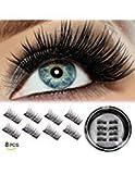 Beauty : VASSOUL Dual Magnetic Eyelashes Magnet Ultra-thin 0.2mm 3D Reusable Fake Eyelashes For Women Makeup Natural Look (8pcs)