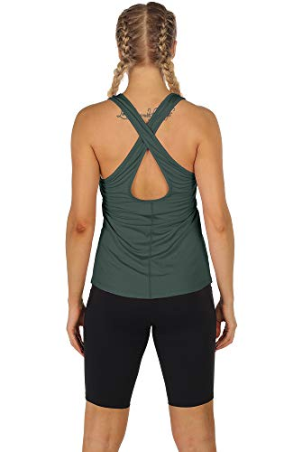 icyzone Workout Tank Tops for Women - Women's Open Back Yoga Tops, Athletic Running Tank, Gym Shirts(Pack of 2)