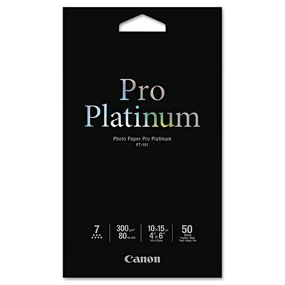 (Canon Photo Paper Pro Platinum, High Gloss, 4 x 6, 50 Sheets/Pack (CNM2768B014) )