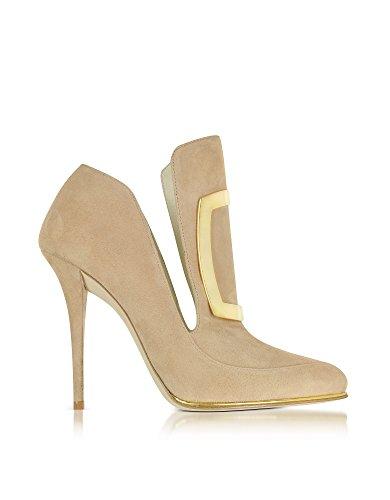 Beige Femme À Suède Balmain Talons Chaussures W6CES011104105 PzcqAOxvwR