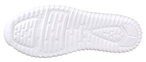 Per Sempre Collegano La Moda Delle Donne Leggerezza Scintillio Metallizzato In Similpelle Trapuntata Stringata Bassa Sneaker Elegante Bianca