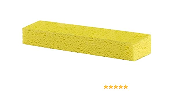 Pack of 12 Carlisle 3699000 Ty-Dee Cellulose Sponge Mop with Built-In Wringer 8-1//2 Length x 2-1//2 Width Sponge