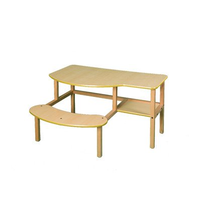 Grade School Computer Desk - Wild Zoo Grade School Buddy Computer Desk - Maple/Yellow
