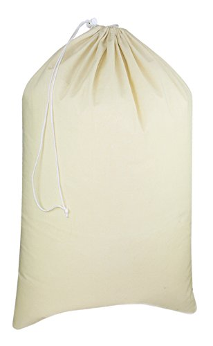 (Cotton Craft - Extra Large 100% Cotton Canvas Heavy Duty Laundry Bags - Natural Cotton - 28