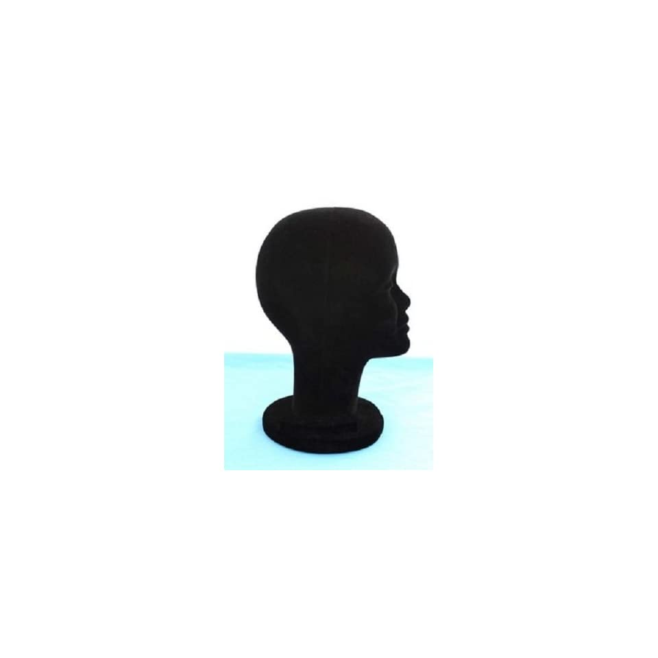 black MANNEQUIN/ MANIKIN FOAM HEAD for display WIG/HAT cap glasses sun