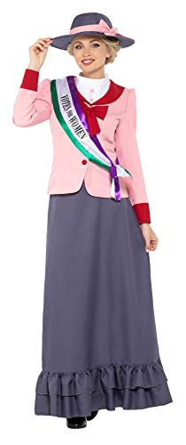Smiffys Deluxe Victorian Suffragette Adult Costume-Large Pink/Grey -