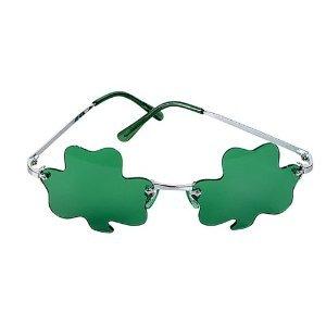 St Patrick Irish Shamrock Glasses - Metal Frame Sunglasses 2-pack