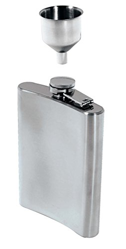 SE HQ90 8 oz. Stainless Steel Hip Flask and Funnel Set (2 - Prices Olives Vodka Three