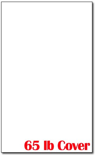 "8 1/2"" x 14"" Legal Sized Cardstock - 250 Sheets - White Colored Cardstock - 65lb Cover - Perfect for Documents, Programs, Menus"