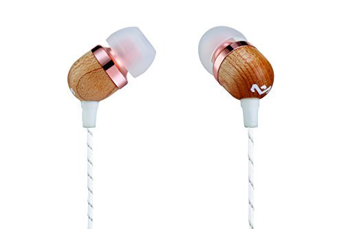 House of Marley, Smile Jamaica Wired In-Ear Headphones - In-line Microphone with 1-Button Remote, Noise Isolating, Durable, Tangle Free Cable, EM-JE041-CP Copper