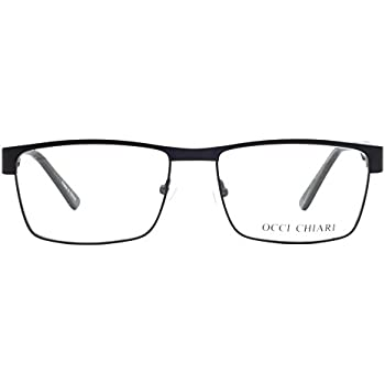 c50cc89cd7 Eyewear Frames-OCCI CHIARI-Rectangle Lightweight Non-Prescription  Eyeglasses Frame with Clear Lenses For Womens 52mm …
