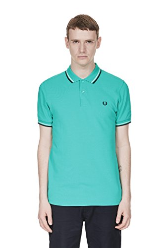 Fred Perry Herren Poloshirt Pepmnt/Sw/Nvy'