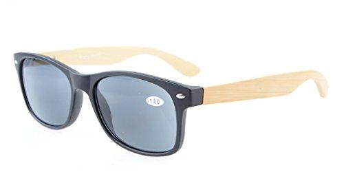 Eyekepper lectura de ancho 75 Lentes de de gafas de las Grises sol de sunreaders bambú de templos de de primavera bisagras madera 1 la 80's RqrRCwOxE