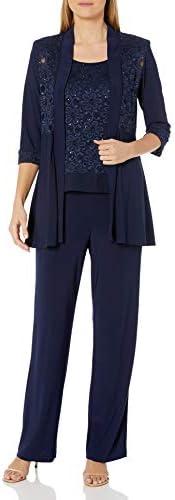 R&M Richards Womens Lace Pant Set D
