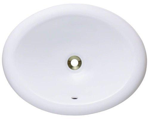 Polaris Sinks P7191OW White Overmount Porcelain Vanity Bowl by Polaris Sinks