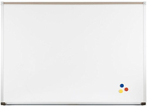 Markerboards Aluminum Trim - Best-Rite Classroom Deluxe Porcelain Steel Dry Erase Whiteboard, 4 x 12 Feet Magnetic Markerboard With Aluminum Trim & Map Rail (202AM-25)