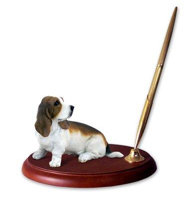Basset Hound Dog Desk Set - Desk Dog Set