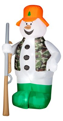 GEMMY INDUSTRIES 86231 Air Blown Hunter Snowman
