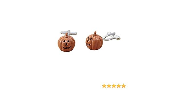 Box /& Cleaner Procuffs Halloween Pumpkin Cufflinks Orange Costume Jack O Lantern