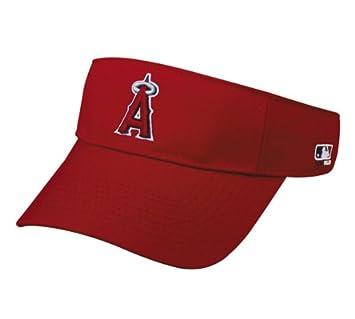 6fa7715c Amazon.com : MLB ADULT Los Angeles ANGELS Home RED VISOR Adjustable ...