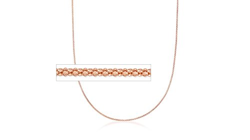 Solid Italian Popcorn Chain in Rose Gold over Sterling Silver (20
