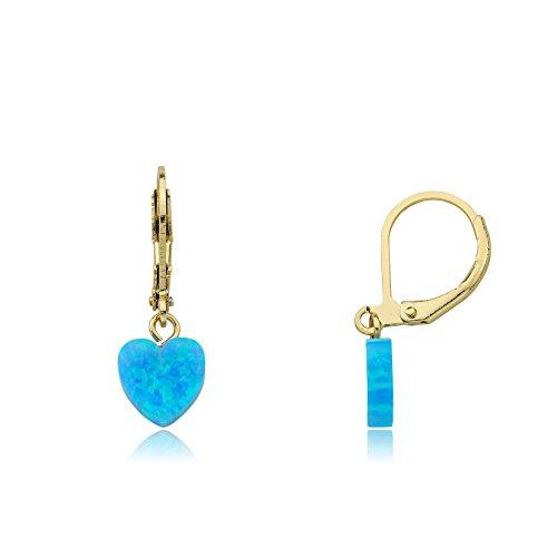 Little Miss Twin Stars Glitter Girl Opal Leverback Heart Earrings (Leverback Heart Earrings Childrens)