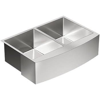 Moen G18220 1800 Series Steel 18 Gauge Double Bowl Sink