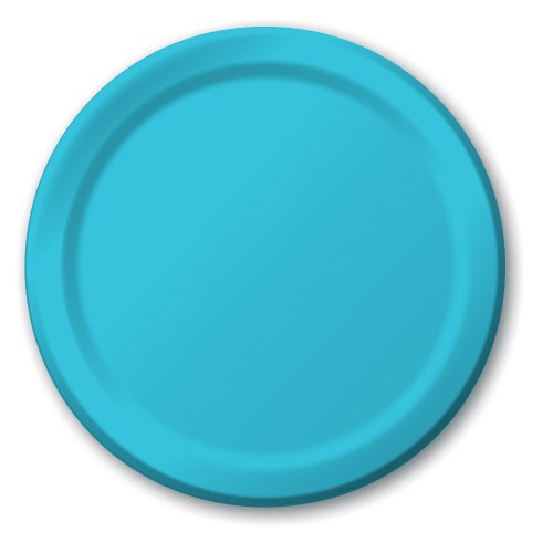 Creative Converting Touch of Color 24 Count Paper Banquet Plates, Bermuda Blue (501039B)