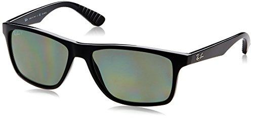 Ray-Ban Injected Man Sunglasses - Black Frame Polar Green Lenses 58mm - Optical Ban Liteforce Ray