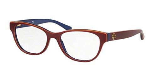 Tory Burch TY2065 Eyeglass Frames 1599-51 - Burgundy/Orange/Navy TY2065-1599-51 (Burgundy Eyeglasses Frame)
