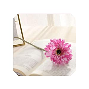 Liliy-luckly 1PCS Artificial Flowers Handmade Gerbera Fashion Home Ornament Wedding Banquet Decoration,7 1