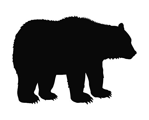 - Bazinga Designs Bear Silhouette (b) Die Cut Vinyl Decal Sticker