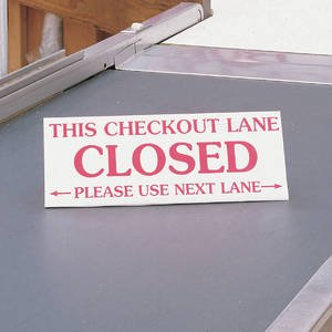 Triangular Checkout Closed Sign