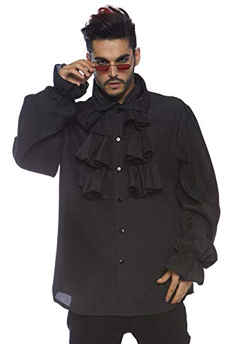 Leg Avenue Men's Renaissance Ruffle Front Pirate Shirt , X-Large Black