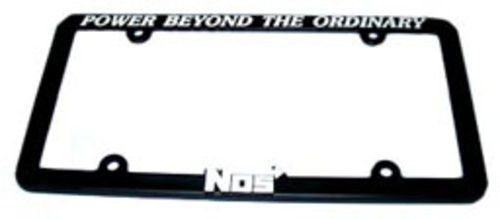 NOS 19301NOS License Plate Frame with NOS Logo Promotional License Plate Frames