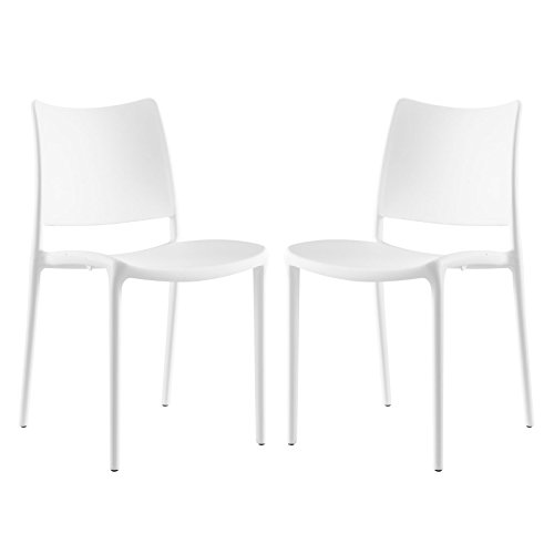 Modway Hipster Dining Side Chair (Set of 2), White Review