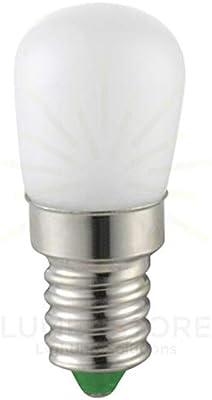 pequeña bombilla de LED de vidrio. consumo 2.3 W=Rendimiento 15 W Luz cálida casquillo E14 Ideal también X nevera, campana extractora, lámpara de forma G22 Pera: Amazon.es: Iluminación