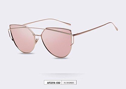 AOFLY Fashion Sunglasses Women Cat Eye Sunglasses Famous Lady Brand Designer Twin-Beams Sunglasses Coating Mirror Glasses - Famous Sunglasses Brands