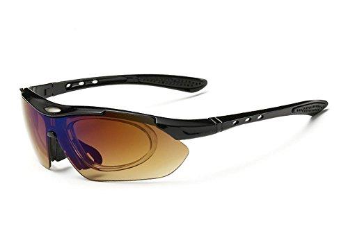 de polarisées Lunettes pour Noir 5 les de lentilles UV lunettes soleil peuvent Huateng changées être sport prévenir Swq18nt4d