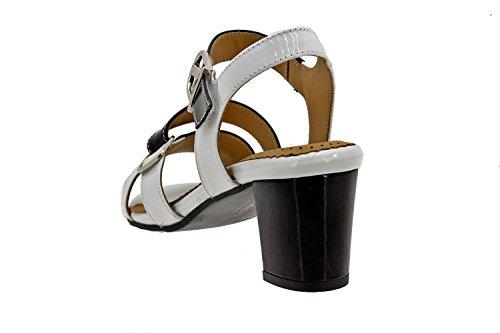 amples Piesanto Chaussure sandale 8496 en femme cuir Blanc confort confortables xFwqv8FI