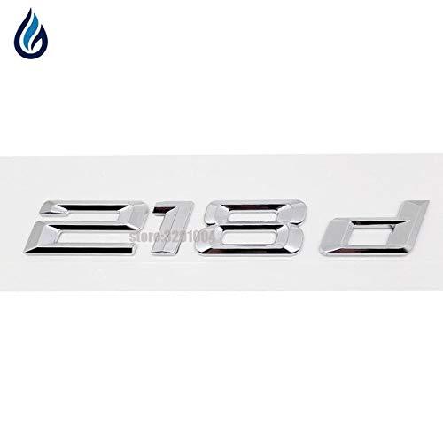 For Bmw PerFormance Sticker 218d 220d 240d Car Rear Boot Logos Badge Emblem Decal For BMW 2 Series Tourer F22 F45 F23 - (Color Name: 218d, Size: Plastic)