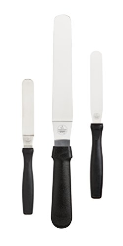 Mrs. Anderson's Baking Flexible Icing Cake Decorating Spatula Set, Japanese Stainless Steel, BPA Free, Set of 3, Includes 4.5 and 8-Inch offset blades and 4-Inch straight blade by HIC Harold Import Co.