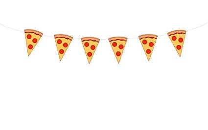 amazon com 4 5 tall pizza banner pizza garland pizza party rh amazon com Pizza Clip Art christmas pizza party clipart