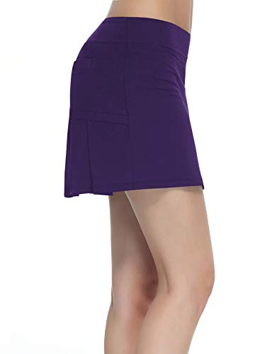 - Women's Workout Active Skorts Sports Tennis Golf Skirt Built-in Shorts Casual Workout Clothes Athletic Yoga Apparel Deep Purple