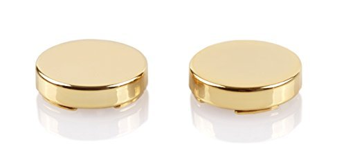 Gold Button Covers - Cuff Link Alternative for Shirts, Cuffs and Collars (G-0 US)