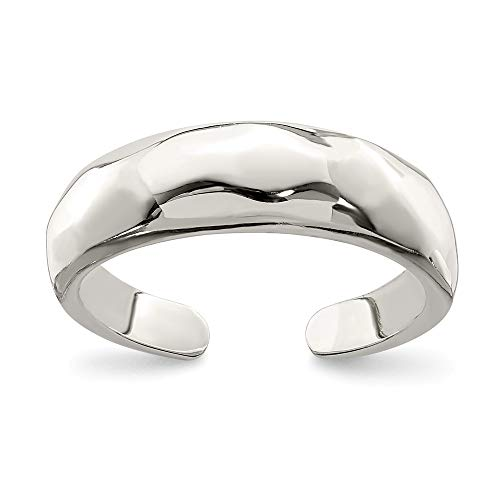 Sterling Silver Solid Polished Domed Toe Ring ()
