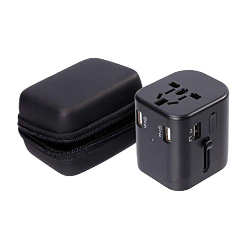 Travel Adapter, IKOCO Worldwide All in One Universal Power Converters with 4.5A Quad USB Fast Charging Ports International Travel Charger Wall AC Power Plug Adapter Wall Charger for Cell Phone Laptop by IKOCO (Image #6)
